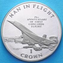 Остров Мэн 1 крона 1994 год. Конкорд