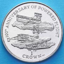 Остров Мэн 1 крона 2003 год. 100 лет управляемому полёту