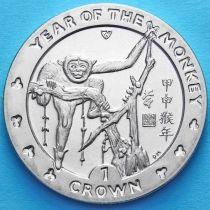 Остров Мэн 1 крона 2004 год. Год обезьяны