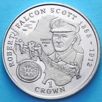 Остров Мэн 1 крона 1999 год. Роберт Фалкон Скотт