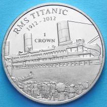 Остров Мэн 1 крона 2012 год. Титаник, посадка