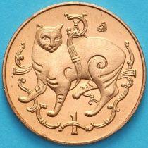 Остров Мэн 1 пенни 1982 год. Мэнская кошка