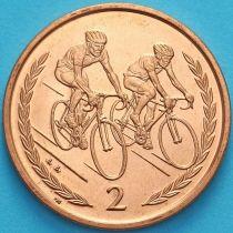 Остров Мэн 2 пенса 1998 год. Велоспорт.