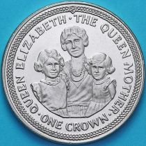 Остров Мэн 1 крона 1990 год. Королева-мать