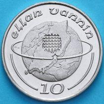 Остров Мэн 10 пенсов 1988 год. Исландия на глобусе. АА