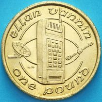 Остров Мэн 1 фунт 1988 год. Первый мобильный телефон. АА