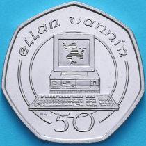 Остров Мэн 50 пенсов 1988 год. Компьютер.