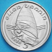 Остров Мэн 5 пенсов 1988 год. Виндсерфинг.