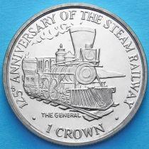 Остров Мэн 1 крона 1998 год. Паровоз Генерал