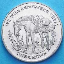 Остров Мэн 1 крона 2014 год. 100 лет Первой Мировой войне