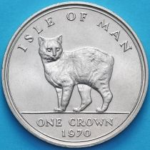 Остров Мэн 1 крона 1970 год. Мэнская кошка