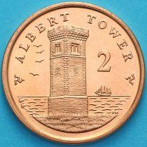 Остров Мэн 2 пенса 2009 год. Башня Альберта. АА