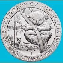 Остров Мэн 1 крона 1988 год. Коала.