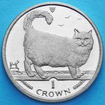 Остров Мэн 1 крона 1998 год. Бирманская кошка.