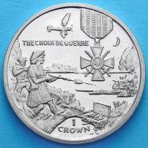 Остров Мэн 1 крона 2004 год. Французский Военный крест.