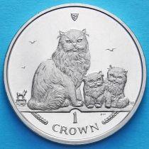 Остров Мэн 1 крона 2005 год. Гималайская кошка.