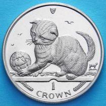 Остров Мэн 1 крона 2000 год. Шотландская вислоухая кошка.