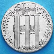 Остров Мэн 1 крона 2005 год. 100 лет независимости Норвегии.