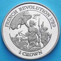 Остров Мэн 1 крона 1998 год. Французская революция.