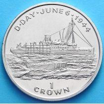 Остров Мэн 1 крона 1994 год. Десантный корабль