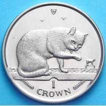 Остров Мэн 1 крона 1999 год. Британский голубой кот