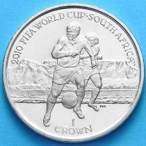 Остров Мэн 1 крона 2010 год. Чемпионат Мира по футболу №1
