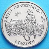 Остров Мэн 1 крона 1999 год. Битва при Ватерлоо