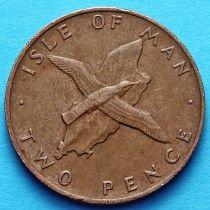 Остров Мэн 2 пенса 1976-1979 год. Малый буревестник.