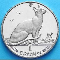 Остров Мэн 1 крона 1992 год. Сиамская кошка