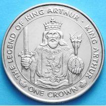 Остров Мэн 1 крона 1996 г. Король Артур