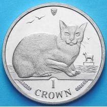 Остров Мэн 1 крона 1996 год. Бирманская кошка