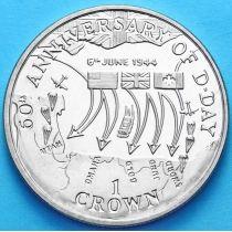 """Остров Мэн 1 крона 2004 г. 60 лет операции """"Нептун"""""""