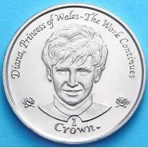 Остров Мэн 1 крона 2002 год. Принцесса Диана.