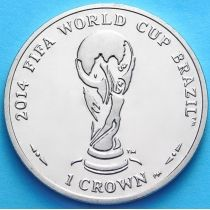 Остров Мэн 1 крона 2012 год. Чемпионат мира по футболу.