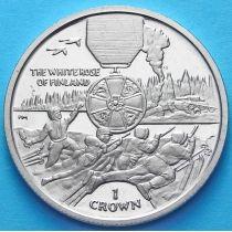 Остров Мэн 1 крона 2004 год. Орден Белой Розы.
