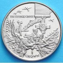 Остров Мэн 1 крона 2004 год. Георгиевский крест
