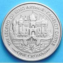 Остров Мэн 1 крона 1996 г. Замок Камелот