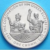 Остров Мэн 1 крона 2013 г. 60 лет со дня коронации
