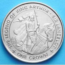 Остров Мэн 1 крона 1996 г. Ланселот
