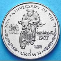 Остров Мэн 1 крона 1997 г. Чарли Коллиер