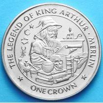 Остров Мэн 1 крона 1996 г. Мерлин