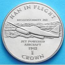 Остров Мэн 1 крона 1995 год. Мессершмитт