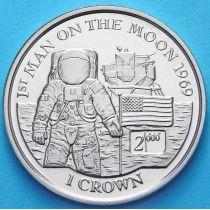 Остров Мэн 1 крона 2000 г. Первый человек на Луне