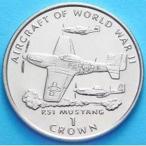 Остров Мэн 1 крона 1995 г. Мустанг