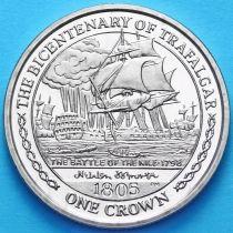 Остров Мэн 1 крона 2005 г. Битва на Ниле