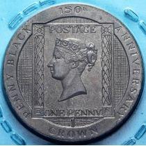 Остров Мэн 1 крона 1990 год. Черный пенни.