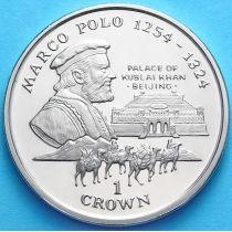 Остров Мэн 1 крона 1998 год. Марко Поло