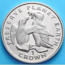 Остров Мэн 1 крона 1996 г. Гагарка