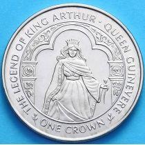 Остров Мэн 1 крона 1996 г. Королева Гвиневра