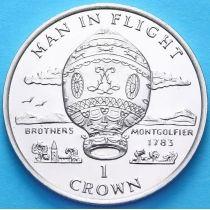 Остров Мэн 1 крона 1995 год. Воздушный шар